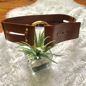 Banana Republic genuine leather wide width belt